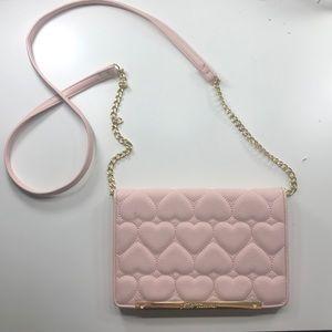 Pink Betsey Johnson wallet crossbody/shoulder bag